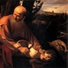 Sacrificio Isaac Caravaggio Uffizi